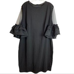Shein Curve Little Black Dress Size 4XL Mesh Puffy Sleeves